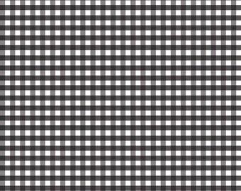 "1 Yard -1/4"" Medium Gingham by Riley Blake Designs- Black C450-110"
