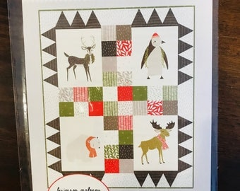 """SALE!! Merrily Pattern by Stacie Bloomfield of Gingiber for Moda -Finished Size 27.5"""" x 33"""""""