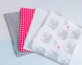 Fat Quarter Bundle Safari Party by Melissa Mortenson with Mixed Basics by Riley Blake Designs- 4 Fabrics