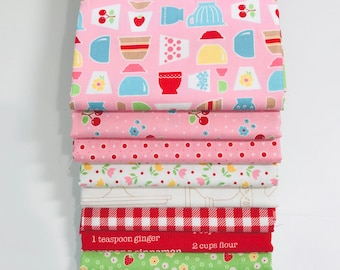 Half Yard Bundle Bake Sale 2 by Lori Holt of Bee in My Bonnet for Riley Blake Designs- 10 Fabrics