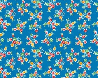 SALE!! 1 Yard Arbor Blossoms by Ellis and Higgs Nadra Ridgeway for Riley Blake Designs -6252 Blue Floral