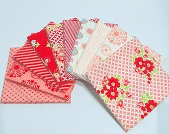 SALE!! 1/2 Yard Bundle Mixed Lines by Bonnie and Camille for Moda-55140AB- 10 Fabrics