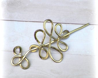 Shawl Pin Celtic Mimimalistic Gold Color Brooch Vintage Hammered Minimalist  Style Scarf Pin  Stick Pin