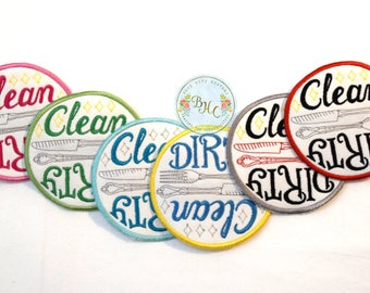 Dishwasher magnet, clean dirty dishwasher sign, dishwasher safe, dishwasher reminder, clean dishes, dirty dishes