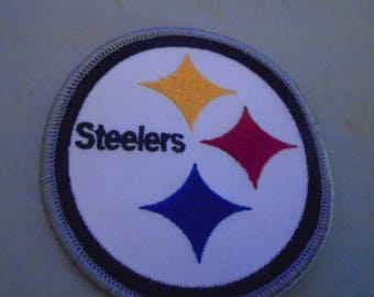 A  Pittsburgh Steelers 2 1/2 inch embroidered patches Great sizes  for hats old stock glue or sew in
