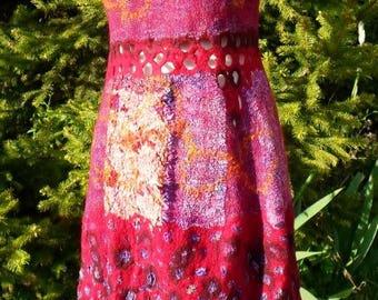 "nuno felt dress for the challenge ""flowers"""