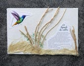 "Carte artistique ""légende colibri 1"""