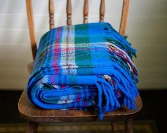 Plaid Blanket // Pendleton Woolen Mills // Pendleton Blanket // Wool Blanket // Blue // Cabin Decor // Camping