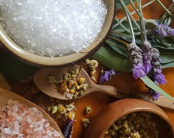 Chamomile Lavender Bath Soak || All Natural Bath and Beauty || Epsom Salts || Relax || Bath Salts