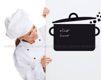 Blackboard decal bambini adesivi murali nursery camerette for Stickers lavagna cucina