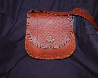 Tooled Leather Hand Bag  (P2)