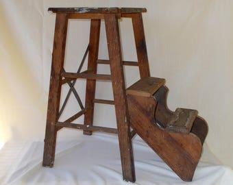 Vintage Step Stool Etsy