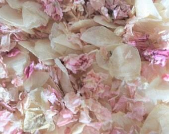 Confetti petals, Gentle fall petals, Biodegradable confetti, Petals for confetti, Throwing petals, pink petals, ivory petals