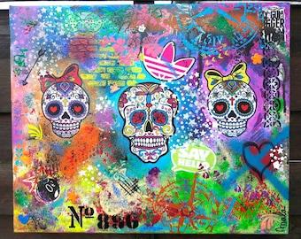 Calaveras, mexican skulls, street art
