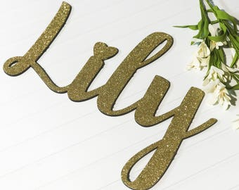"20"" inch long Name Sign, Nursery, Nursery Decor, Childrens Name, 3D name, laser cut, cut out name, wedding, wedding decor, custom, laser cut"