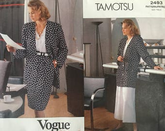 VOGUE 2493 1990 Jacket Skirt & Culottes  14-16-18 UC