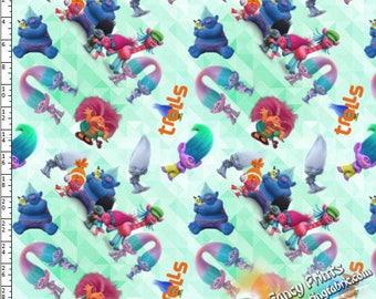 YNO17030425 New Arrival troll Design, digital printed  fabric - 1 meter