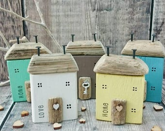Little Houses, Driftwood House, Driftwood Art, Driftwood, Wood House, New Home Gift, Gift for Her, 5th Anniversary Gift, Farmhouse, Country