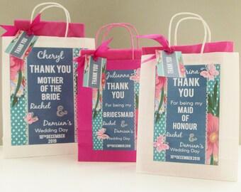 Personalised bridesmaid wedding  gift bag