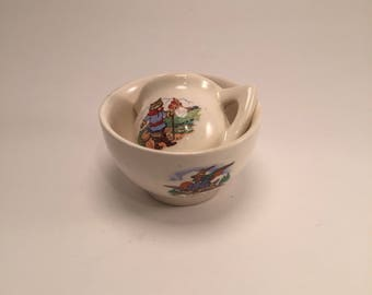 Dolls house jug and bowl