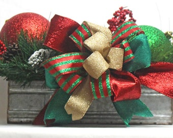 Rustic Christmas Ball Centerpiece, Christmas Centerpiece, Holiday Christmas Balls,