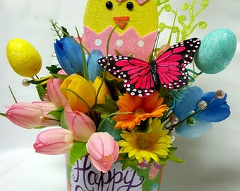 Easter Centerpiece, Easter decor, Easter Chick, Easter Egg Decor