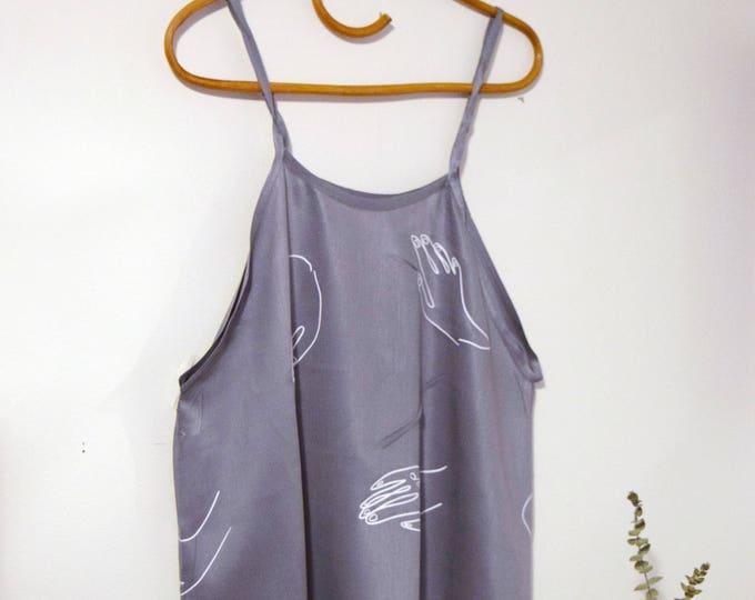 paloma apron tank |  slate blue