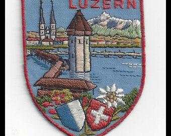 Luzern Vintage Switzerland Travel Patch