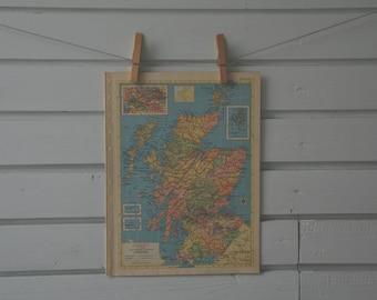 1956 Vintage Map of Scotland