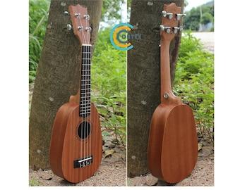 Pineapple Mahogany 21'' Soprano Ukulele   Musical Instrument Hawaiian Guitar tud04