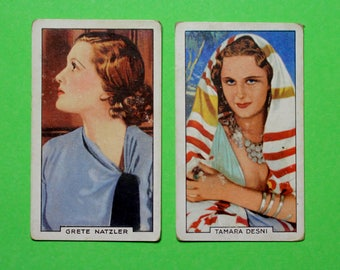 Vintage Cigarette Card Gallaher Ltd Portraits of Famous Stars 1935 Film Stars Have 2/48 for sale Very Good-Good Con Craft Scrapbooking