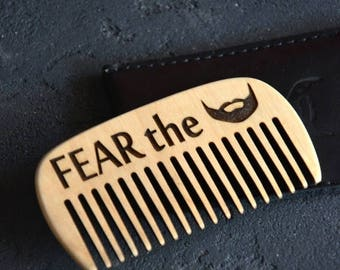 BIG SALE Personalized Wooden Comb for Beard brush Engraved comb for Men Mustache comb Hair comb Dad gift for Him Grooming kit Beard care Bea