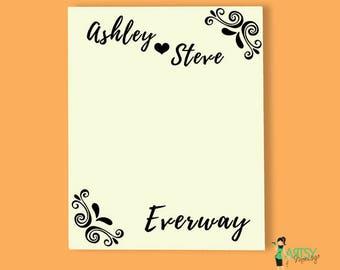 Personalized Bridal Shower Cork Board - Fabric Covered Cork Board