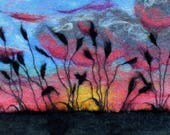 Sunset Sky with Silhouett...