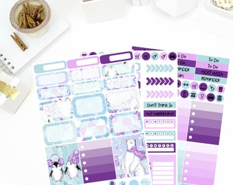 Glizty Winter Weekly Kit Stickers! Perfect for your Erin Condren Life Planner, calendar, Paper Plum, Filofax!