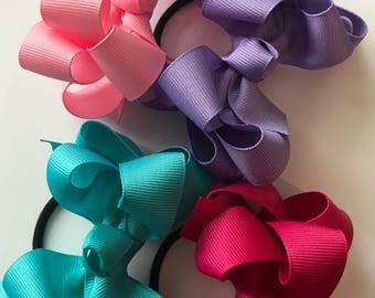 4 Boutique Double Bows (4 inch)