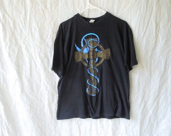 80s Celtic Dragon Fantasy T-Shirt