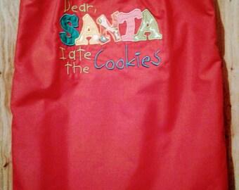 Dear Santa Dress.... 3t little Red dress