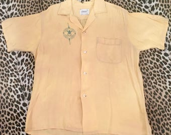 1950s men's shirt Penney's Towncraft M 15-15 1/2