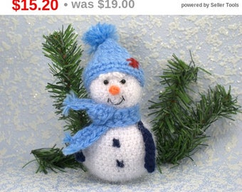 Christmas ornament Stuffed toy Christmas gift Home decoration Baby toy Knitted toy Snowman Table decor Christmas Tree decor Kids toy