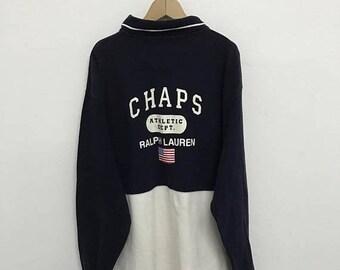 20% OFF Vintage Chaps Ralph Lauren Polos Long Sleeve/Chaps Big Logo/Ralph Lauren Clothing/Polos Ralph Lauren