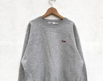 20% OFF Vintage Van Jac Embroidery Logo Sweatshirt/Van Jac Crewneck/Van Jac Pullover
