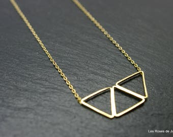 Pendant 3 triangles gold