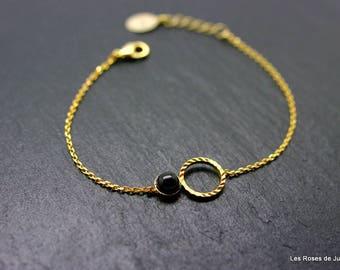 Round mini bracelet gold