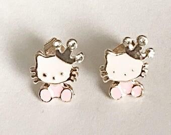 Hello Kitty Inspired Stud Earrings