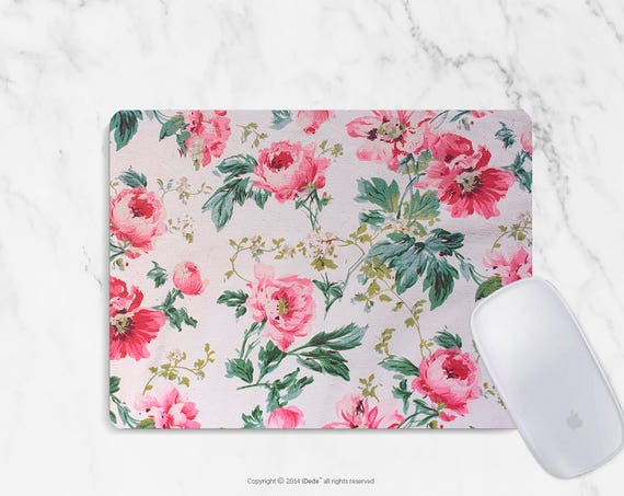 Floral Mousepad floral mouse pad Round or Rectangle Mouse pad Beautiful Design Floral Mouse pad Cute gift Mousepad 18