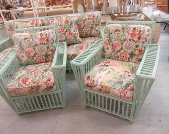 Palm Beach Stick Wicker Lounge Chairs Palm Beach Regency