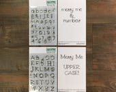 Messy Me Alpha Stamp Sets - by ByTheWell4God