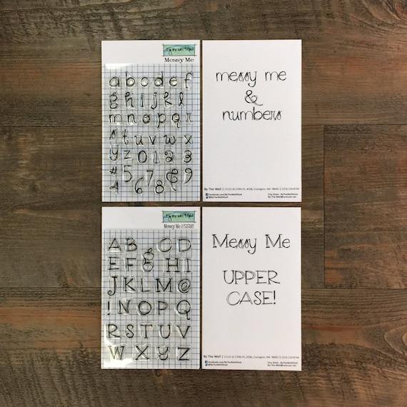 BTW4G Messy Me Alpha Stamps