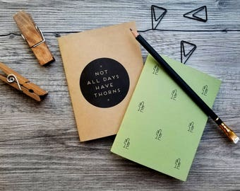 Handmade Mini Cactus Notebooks - Set of 2